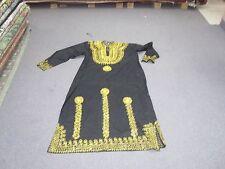 Vintage Linen & Gold Embellished Caftan Kaftan Henna Dress Robe Arabic Moroccan