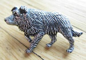 Hund / Hunde  Pin / Pins: BORDER COLLIE in 3D / Zinn - Edel!