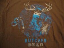 Butcher Bear Musical Artist Sexy Pin Up Girl Concert Tour Brown T Shirt Size L