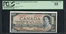 #BC-35a $100 1954 DEVIL'S FACE PCGS 55 CHOICE ABOUT NEW COYNE / TOWERS HW3282