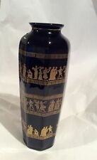 Black And Gold Greek Vase, 24ct Gold Painted And Hand Crafted