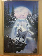 Vintage 1993 Unicorn Twilight original fantasy poster  7428