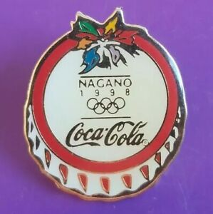 1998 Nagano LOGO OLYMPIC Winter Games Pin Coca Cola