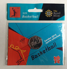 2012 50p olympique 05/29 basket-ball coin hanging sac brillamment universel @
