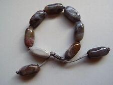 Lola Rose Josephine large Tumble Semi Precious Bead Bracelet Grain agate  new