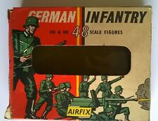 THREE packets of Airfix German Infantry S5-50 in one Type 1 Box Vintage 1964