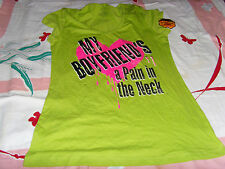 NWT My Boyfriend's a Pain in the Neck Halloween graphic tee shirt junior 11 13 L