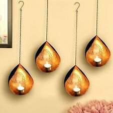 Wall Sconce Tea Light Candle Holder Wall Hanging Diwali Home Decor Gift Set of 4