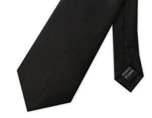 Black Poly-Satin Funeral Tie XL