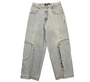 VINTAGE BOSS BY I.G. DESIGN JEANS SIZE 33 BAGGY LOOSE RAVE GOTH 1990S JNCO