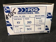 PDQ COMMERCIAL DEADBOLT KV-116 ENTRANCE SINGLE. CYLINDER / THUMBTURN 26D NEW