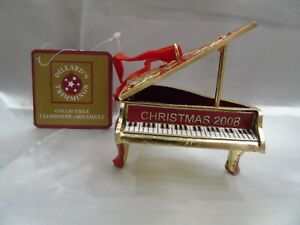 Vintage Dillard's Baby Grand Piano Christmas 2008 Cloisonne Ornament