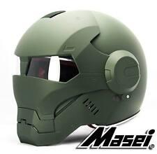 Masei 610 Matt Green Atomic-Man Motorcycle Bike Harley MLB Chopper Arai Helmet