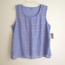 Coldwater Creek Lavender Sequin Stripe Tank Size XL  Tag $59   NWT #D42