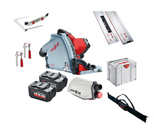 Mafell MT55 18M bl 18V Cordless Plunge Cut Saw + 2 x Guide Rail + Clamps + Bag