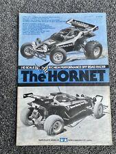 TAMIYA ORIGINAL 1/10 THE HORNET RC MANUAL #58045 1980s
