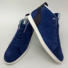 Louis Vuitton high top sneakers blue navy suede LV logo 9.5 US 42,5 EUR MS0154