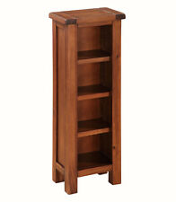 Prussia Acacia DVD Stand / Solid Dark Wood Small Bookcase / Adjustable Shelves