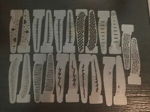 5' Inch Fishing Lure Stencils VARIETY PACK