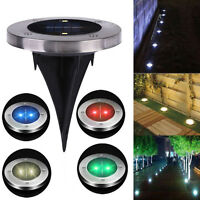 Solar 2 LED Outdoor Path Light Spot Lamp Yard Garden Lawn Landscape Waterproof