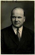 More details for antique mormon portrait rppc postcard president david d lamph signed