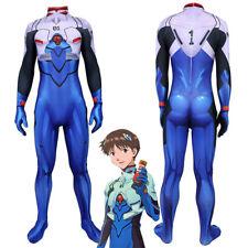 Neon Genesis Evangelion EVA Shinji Ikari Plugsuit Cosplay Bodysuit Costume