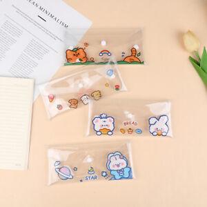 Pencil Case Cartoon Transparent Gift School Pencil Box Pencil Bag StationeHF