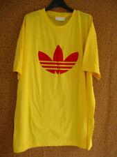 Tee Shirt Adidas Jaune et rouge Trefoil 90'S Vintage shirt Oldschool - 180 / L