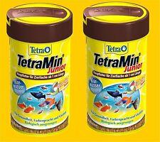 TetraMin Junior 2 x 100 ml Premium Fischfutter für Jungbrut ab 1 cm Hauptfutter