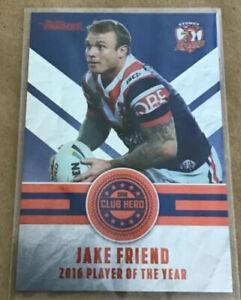 🏉 2017 NRL Traders - Club Hero - Jake Friend #CH 27/32 🏉