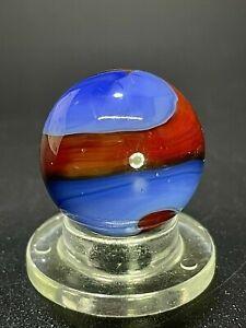 """Akro Agate HTF SPIDERMAN Ringer Corkscrew Vintage Marble 0.629"""""""