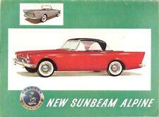 Sunbeam Alpine Series 1 1959-60 UK Market Sales Brochure Roadster Hard Top