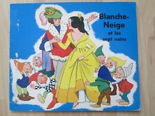 BLANCHE-NEIGE ET LES SEPT NAINS~French Snow White~VINTAGE PB~Editions Pestalozzi