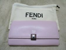 New FENDI Roma PINK Leather Wallet --NWT