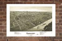 Vintage Charleroi Print, Aerial Charleroi Photo, Vintage Charleroi PA Pic, Old C