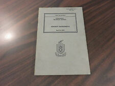 War Department Supplement Technical Manual Aircraft Instruments TM 1-413 1943