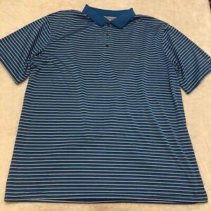 Reebok Golf Polo Shirt Mens 3XLT Striped Blue