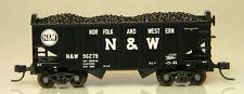 NIB Atlas 50003692 55 Ton Fishbelly Hopper w/Load N&W #96279