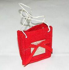 Bomboniera Set 3 Sacchettini portaconfetti yuta rossa sacchetto laurea art C104