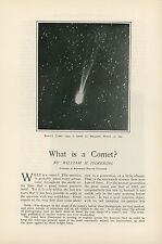1906 Magazine Article What Is A Comet Science Astronomy Astrology Meteor