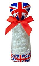 50 X Union Jack Block Bottom Clear Candy Sweet Treat Bags Royal Wedding Gifts