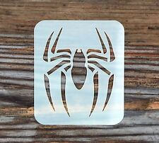 Spider Face Painting Stencil 7cm x 6cm 190micron Washable Reusable Mylar