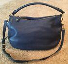 J Crew Liennial Hobo Navy Blue Leather Purse Handbag Satchel Handbag Retails$325