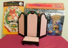 Vintage Lot MUFFY VANDERBEAR Stool, Dressing Screen, Halloween, Christmas Items