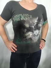 Beware The Wicked Witch Of The West! Disney Graphic Gray Tee Size Juniors XS