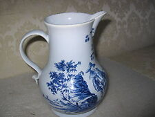 LARGE WILLIAMSBURG DELFT  CHINIOSERIE MILK OR WATER  PITCHER MINT CONDITION