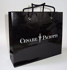 """Cesare Paciotti Shopping Gift Presentation Tote Bag 11""""x 9.5""""x 3"""" Black Paper"""