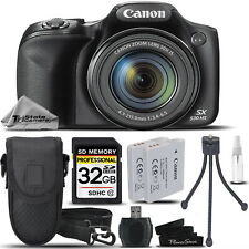 Canon PowerShot SX530 HS Digital Camera (Black) + CASE +EXT BATT +TRIPOD + 32GB