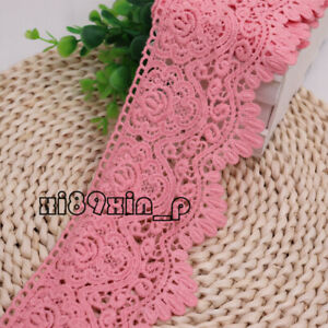 1Yard,Vintage Crochet Embroidered Cotton Lace Trim Dress Curtain Sewing DIY 6L34