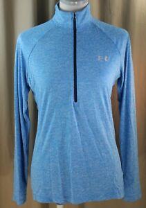 Under Armor, Loose, Medium, Heat Gear Cerelean Blue ½ Zippered Top